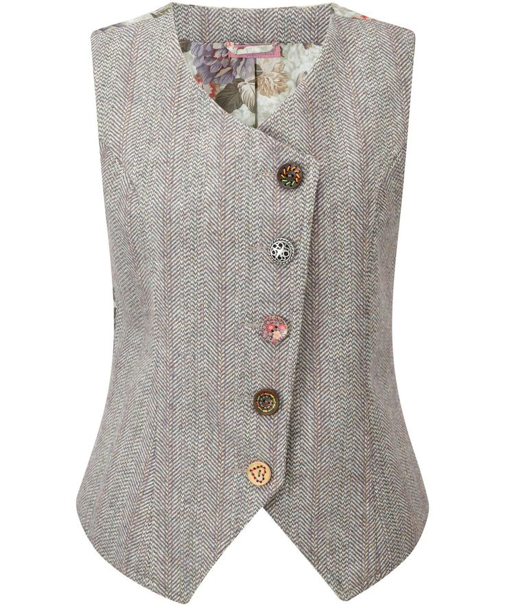 Heritage Waistcoat Great kooky look with beautiful oriental style lining and mis-matched buttons. Give it a funky layered look with our Terrific Tailored Blazer and jeans.