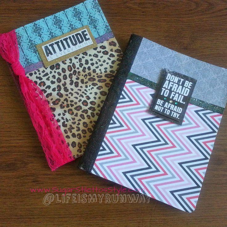 DIY Composition Notebook Cover   Sugar Stilettos Style