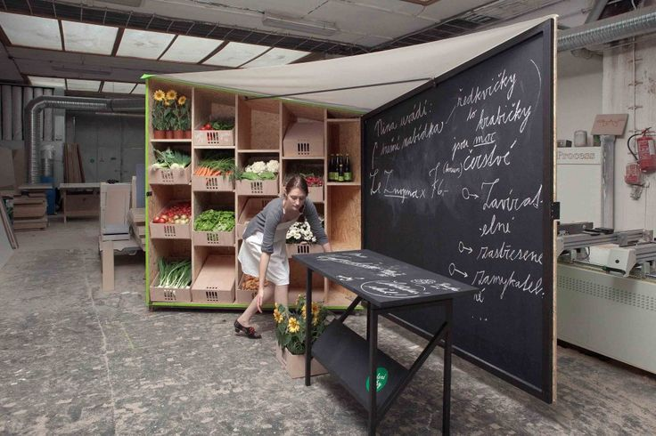 Market Stall Design /  I like the chalk board look and identity.