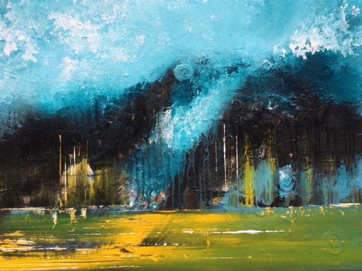 """Your Life"" , Abstract Acrylic Painting by Mo Tuncay #painter #painting #artist #art"