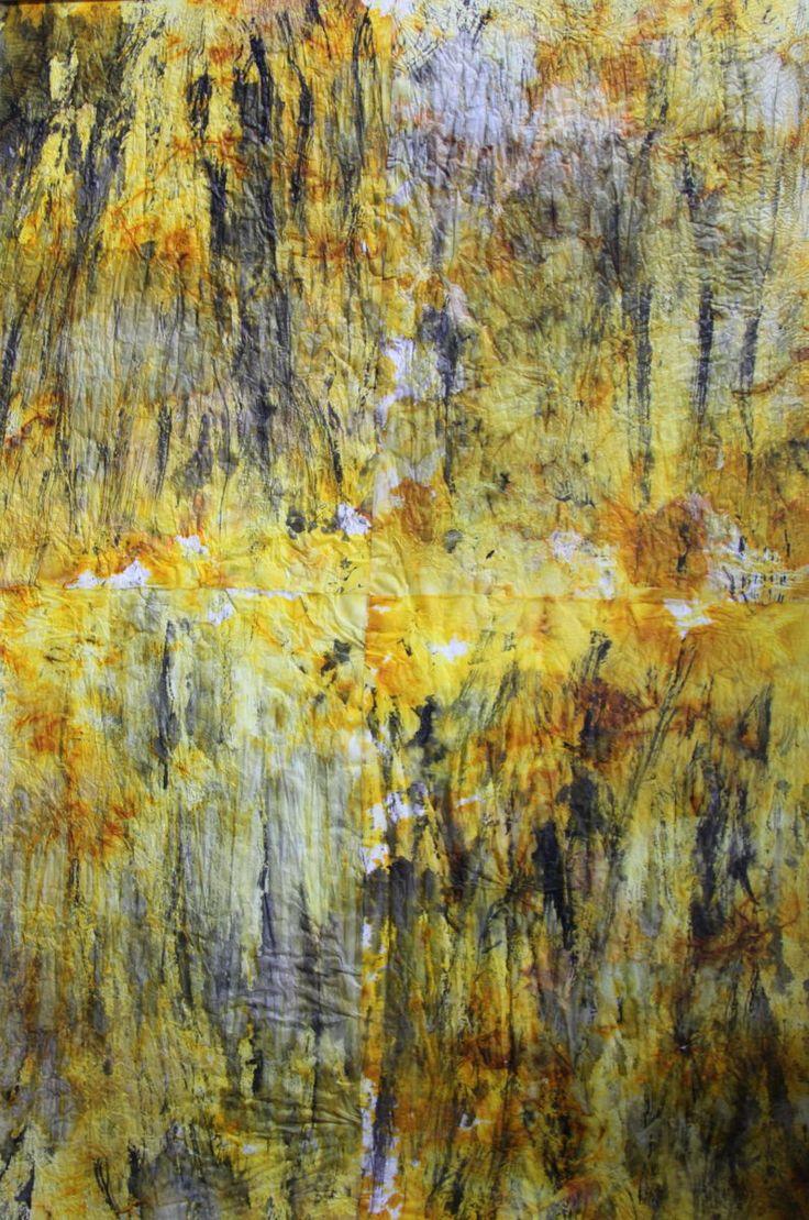 TRACES (Peinture),  79x100 cm par Jeannette ALLARY Aquarelle sur papier cristal
