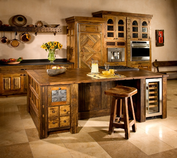 Custom Kitchen Island & High End Custom Kitchen Cabinets