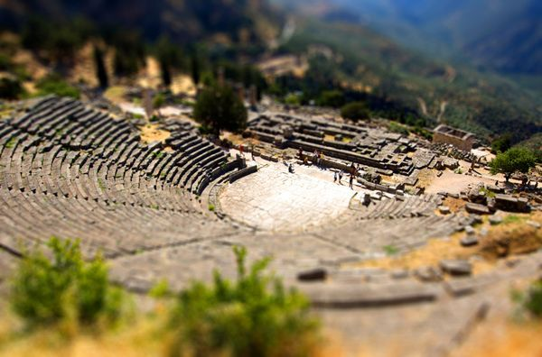 Delphi, Greece (ancient ruins - everything in Greece is ancient)