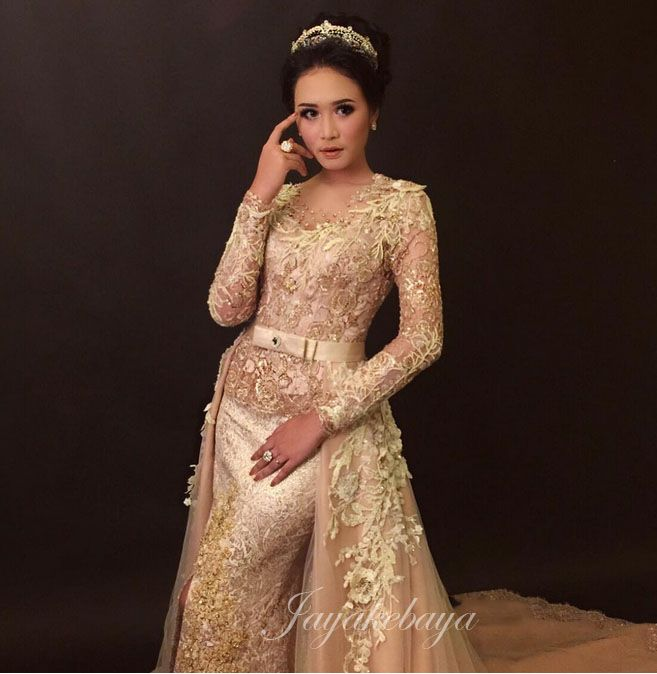 kebaya dress lace 2016 - gold color
