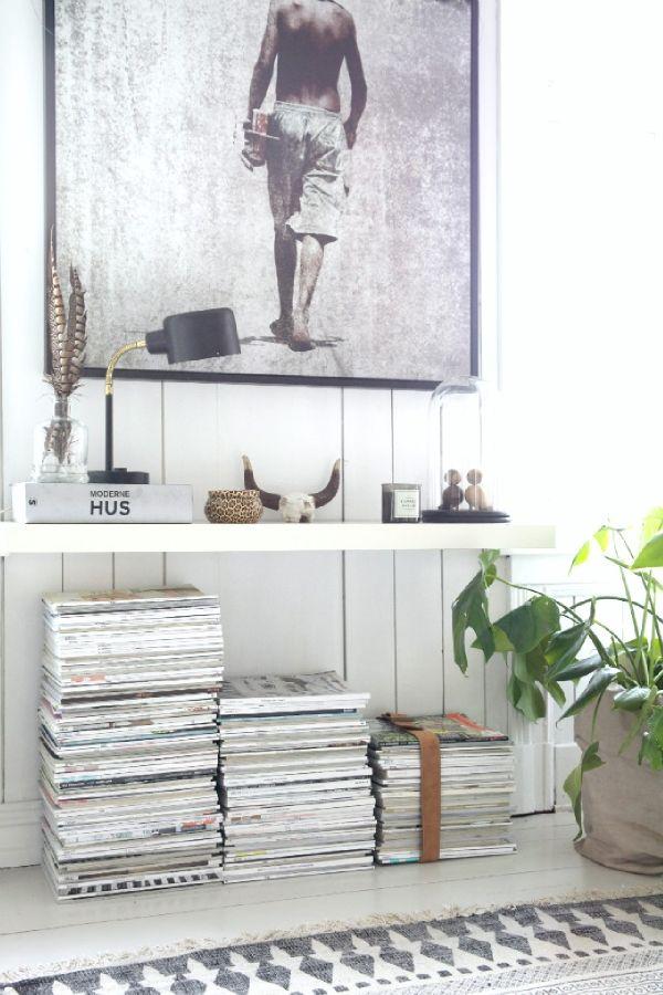 5 idées originales pour ranger ses livres et magazines | @decocrush (http://www.decocrush.fr)