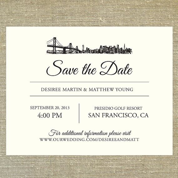 18 best sf invitation ideas images on pinterest invitation ideas san francisco skyline save the date customizable with your wording colors and preferred fonts sample only invitation designinvitation ideas wedding stopboris Choice Image
