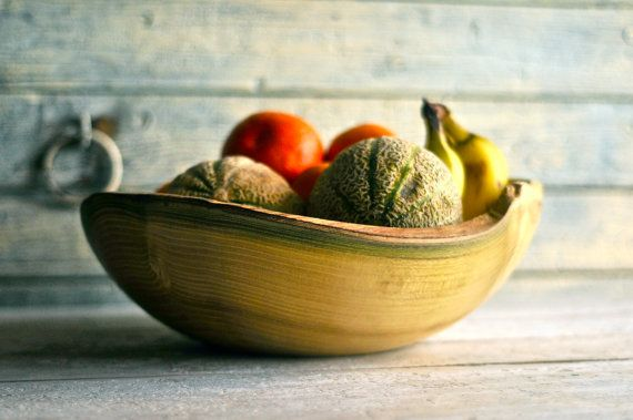 Fruit bowl Salad bowl wood bowl Wooden bowl by Oniroteo on Etsy