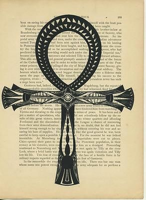 Ankh Key of Life Egypt Nile Original Antique Vintage 1892 Paper Art Print Book