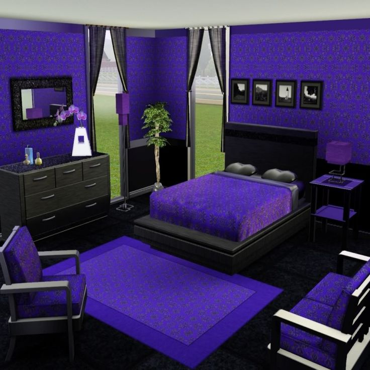 Best 25+ Purple Black Bedroom Ideas On Pinterest