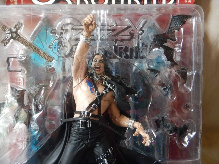 NIB 1999 Spawn McFarlane Ozzy Osbourne Doll Figure w/ Diorama & Headless Bats