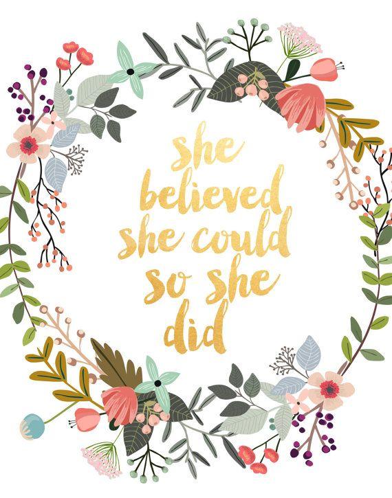 Cree ella podría así lo hizo cita motivacional por PaperStormPrints