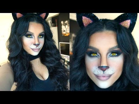 Feline Glam Halloween Makeup Tutorial | 2015 | Makeup By Leyla - YouTube