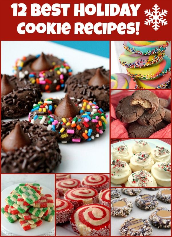 12 best holiday cookie recipes on the web.  Great ideas for holiday giving! #recipes