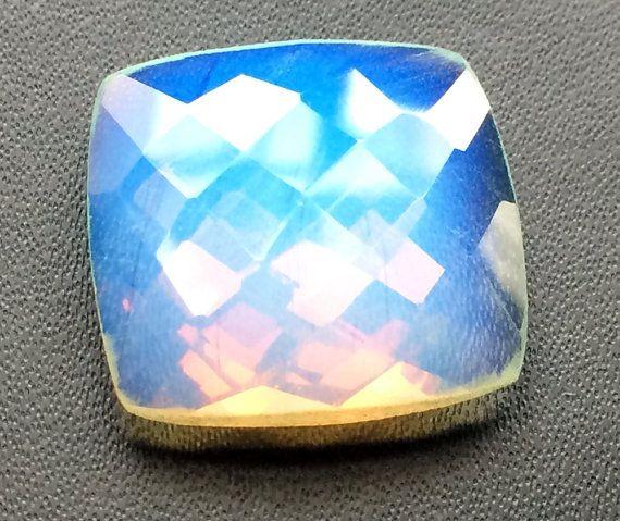 1 Pc Huge Fire Opalite Stones Opalite Cushion Cut by gemsforjewels