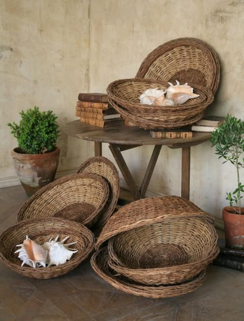 Wall Decor Using Baskets : Migliori idee su cestini di bushel