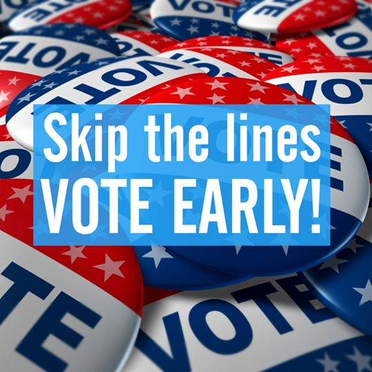 Skip the lines, vote early! Today is the start of Early Voting in Dallas and across the state.