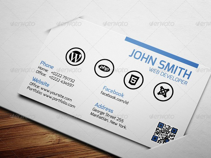 8 best web development images on pinterest business card design web developer business card reheart Choice Image
