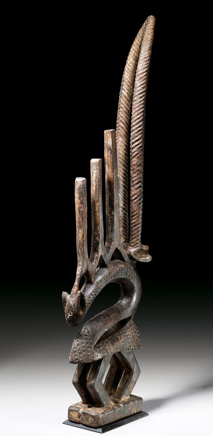 Africa | Chi Wara dance crest from the Bamana people of Mali | Wood