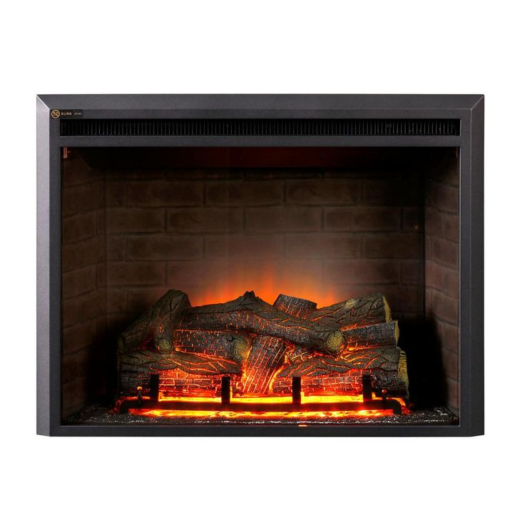 Dynasty Fireplaces 32 In Led Electric Fireplace Insert In Black Matt Ef44d Fgf With Images Fireplace Inserts Electric Fireplace Electric Fireplace Insert