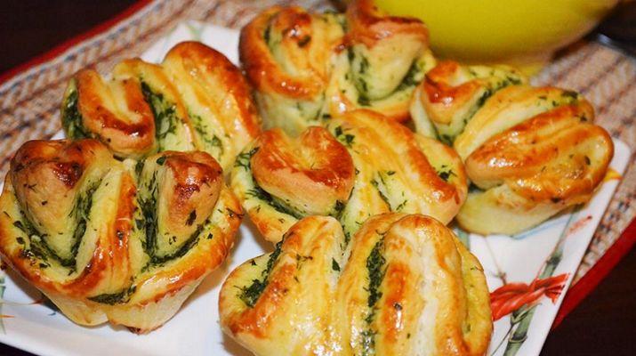 Ароматные булочки с чесноком — Кулинарная книга - рецепты, фото, отзывы