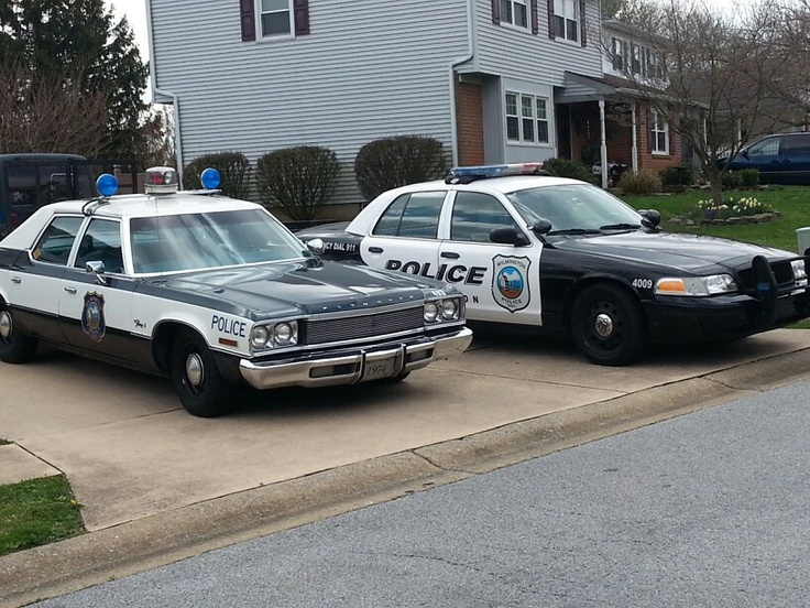 Vintage Cop Car Outdelaware Old Meets New Random Dopeness In