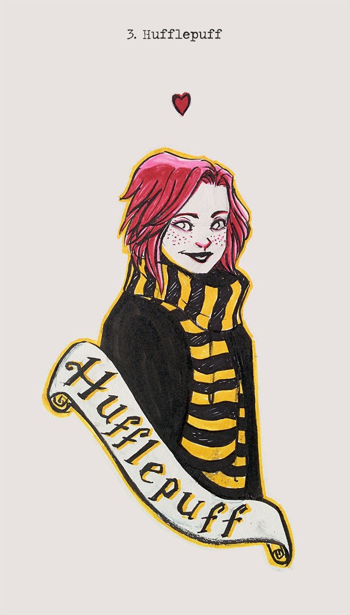 So, I'm super late on my Harrynktobers! I'll try to catch up this weekend #3 Hufflepuff Here's a young Tonks for this theme :) DA • Facebook