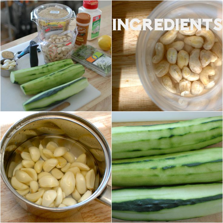 Cucumber-Dill Ranch Ingredients