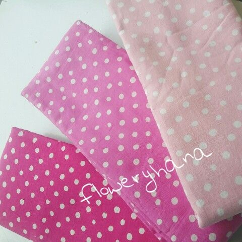 Fucshia, pink, baby pink polkadots...all are batik