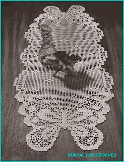 Butterfly Filet Crochet table runner