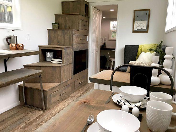 Storage Stairs - Midcentury Modern by Tiny Heirloom