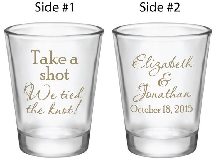 120 Wedding Favors Personalized Shot Glasses Custom NEW Take a Shot We tied the Knot! Wedding Designs for 2016 2017 weddings by Factory21 on Etsy https://www.etsy.com/listing/218185049/120-wedding-favors-personalized-shot