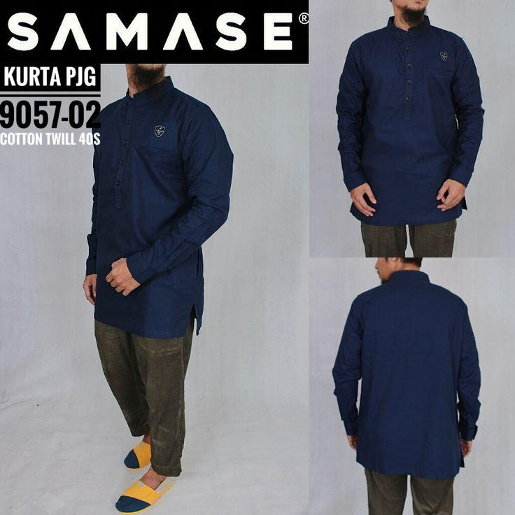 SAMASE GAMIS KURTA PAKISTAN 9057 PJG Warna Navy Polos