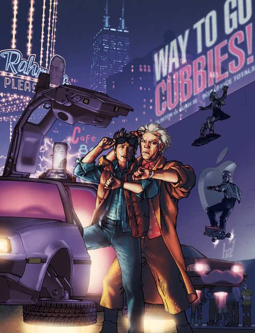 "imthenic: ""Back to the Future by Gene Ha """