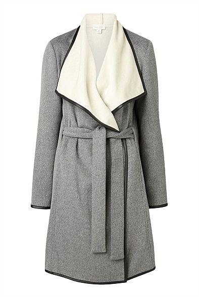 Trim Wrap Coat