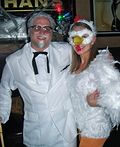 Colonel Sanders and his Chick Couple Halloween Costume - 2012 Halloween Costume Contest