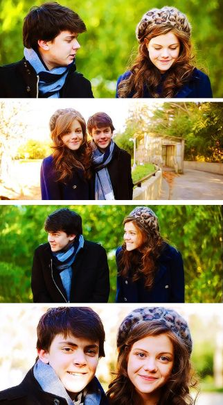 Skandar Keynes and Georgie Henley. Umm..this is precious. Like I can't take how cute it is.
