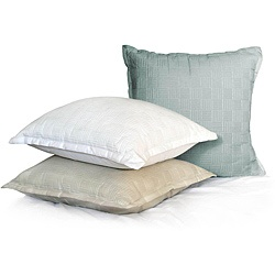 Parquet Cotton Sateen Quilted Decorative Euro Pillows (Set