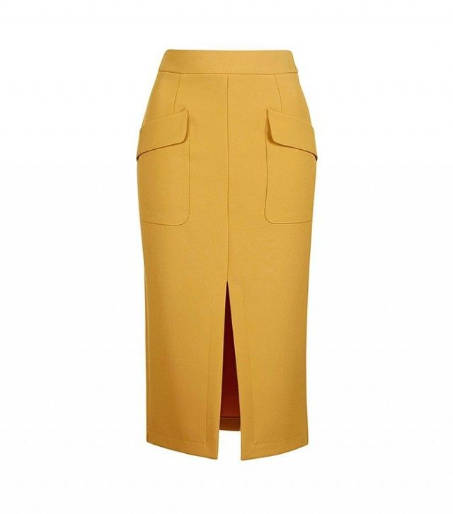 Topshop Split Midi Skirt