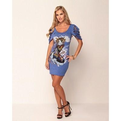 Vestido preto ED HARDY Christian Audigier Rock Oasis Womens Dress. R$199