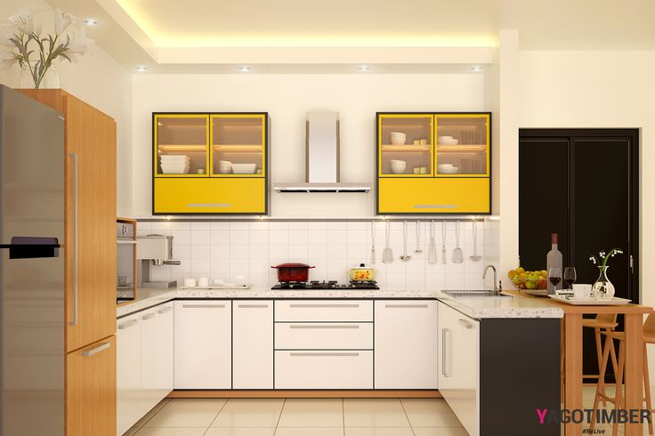 Design your u shaped kitchen in modern way. Get India's best modular kitchen interior design ideas in Delhi, Gurgaon, Faridabad and Ghaziabad. For more design ideas, visit: http://www.yagotimber.com/u-shaped-kitchen