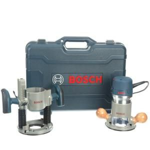 Bosch, 2.25 HP Plunge and Fixed-Base Router Kit, 1617EVSPK at The Home Depot - Mobile