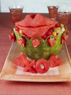 Watermelon Lips And Love Fruit Bowl For Valentines Day www.247moms.com #247moms