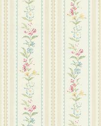 Tapet Floral Stripe  från Wallquest