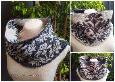 Stunning Double Knit Cowl - Free pattern . A nice refresher course for double knitting. <3