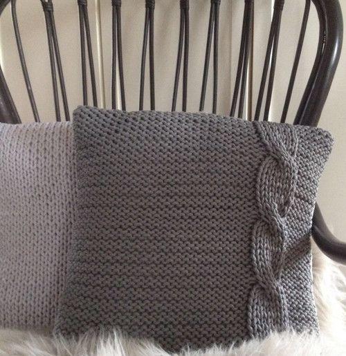 Pletený povlak na polštář