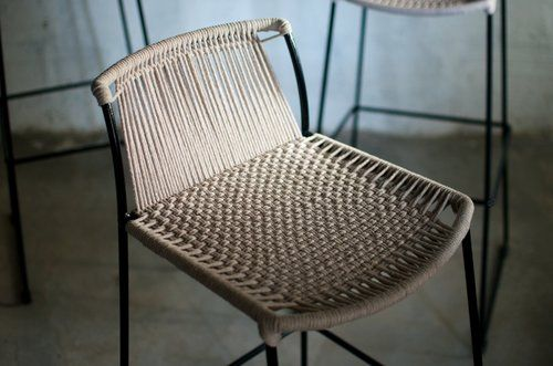 woven stool by tucurinca
