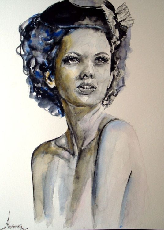 Elena (2016) Watercolor by Antigoni Tziora | Artfinder