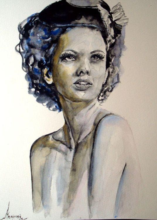 Elena (2016) Watercolor by Antigoni Tziora | Artfinder
