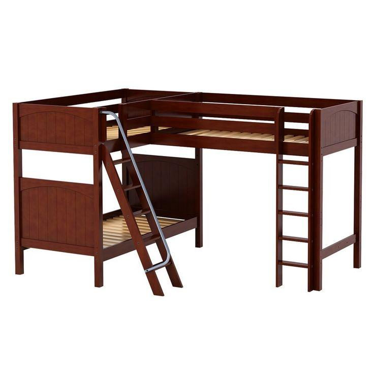 Trio Corner Loft Panel Bunk Bed - RosenberryRooms.com