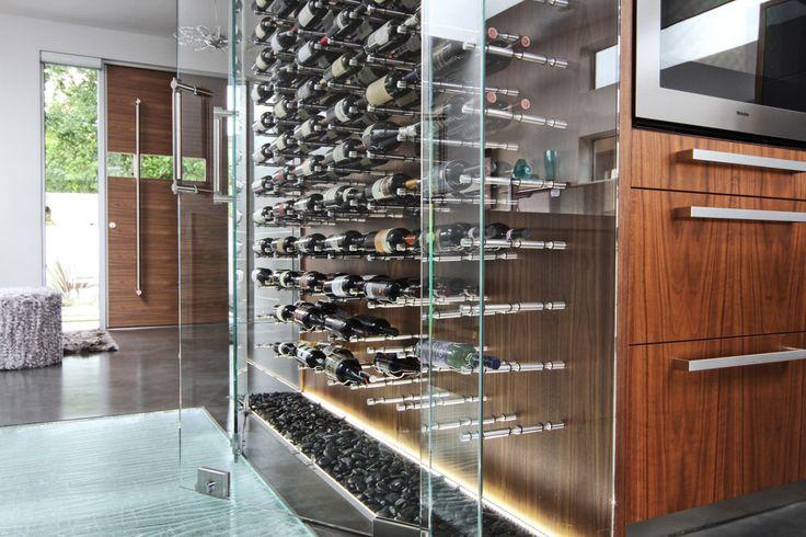 Peg Wine Store Behind Glass Door Led Lighting Pebbles